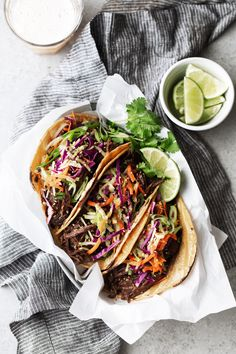 Korean BBQ Beef Tacos Braised Korean BBQ Beef Tacos recipe from cooking with cocktail ringsBeef (disambiguation) Beef is the meat from cattle. Beef may also refer to: Korean Bbq Tacos, Asian Tacos, Best Korean Food, Korean Bbq Beef, Korean Chicken, Asian Bbq, Asian Recipes, Mexican Food Recipes, Beef Recipes