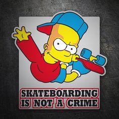 Pegatinas: Bart Simpon skate #coche #pegatina #sticker