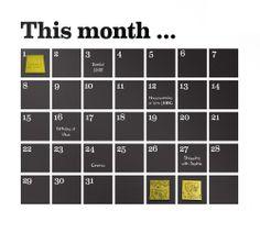 Calendar Sticker by Ferm Living Black