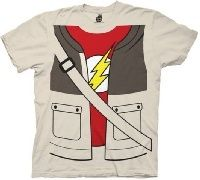 Officially licensed Big Bang Theory t-shirt features the popular Flash insignia underneath a vest, allowing you to layer your inner geek with just one simple shirt.