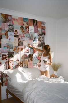 dream rooms for women & dream rooms ; dream rooms for adults ; dream rooms for women ; dream rooms for couples ; dream rooms for adults bedrooms ; dream rooms for adults small spaces Cute Room Ideas, Cute Room Decor, My New Room, My Room, Room Ideas Bedroom, Bedroom Decor, Bedroom Photo Walls, Bedroom Inspo, Photowall Ideas