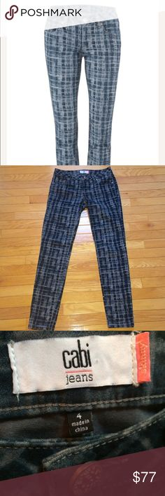 🔥Flash sale🔥Cabi Skinny grids 🚦No offers🚦EUC, size 4. No stains, rips, or piling. 89% cotton, 9% Elastane, 2% spandex. Machine washed cold, gentle and laid flat to dry.      Style # 3047. CAbi Jeans Skinny
