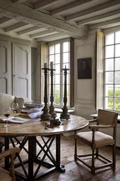BELGIUM - Belgian Pearls - This image: Architecture, historic renovation & property design by François-Xavier Van Damme shared in the post . Decor, Country Dining Rooms, French Country House, Interior, Farmhouse Dining Room, Home Decor, House Interior, Dining Room Decor, Interior Design
