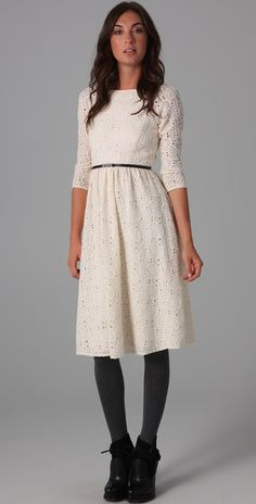 beautiful snowy eyelet dress