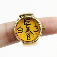 Women's Alloy Analog Quartz Ring Watches