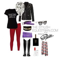 """""""Special spooktacular edition: The stylish equestrian for Phyllis Stein"""" by rachel-reunis on Polyvore featuring BLK DNM, Lancôme, Prada and Alexander McQueen"""