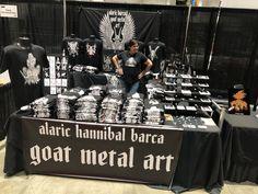 AlaricBarca666.bigcartel.com Hannibal Barca, Metal T Shirts, Metal Art, Goats, Metal Yard Art, Goat