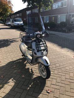 Scooter Motorcycle, Vespa Scooters, Custom Vespa, Vespa Sprint, Pocket Bike, 50cc, Sweet 16, Transportation, Biker