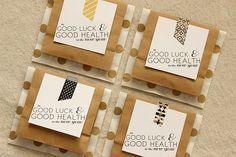 Creative party favors to pass out to guests.