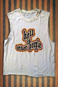 Pre-Order Hell Is Other People Custom Vintage Muscle Tshirt