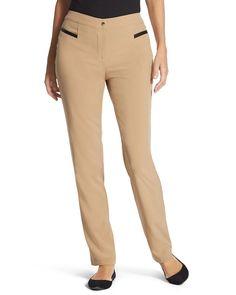 Chico's Women's Zenergy Neema Faux-Leather Detail Pants