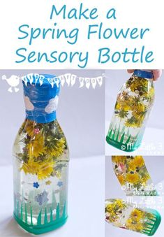 Spring Flower Sensory Bottle SPRING FLOWER SENSORY BOTTLES Babies and toddlers will love this educational activity that explores the natural world and brings the outside inside! The post Spring Flower Sensory Bottle appeared first on Ideas Flowers. Spring Activities, Sensory Activities, Infant Activities, Sensory Bags, Sensory Bottles For Toddlers, Baby Sensory Bottles, Flower Activities For Kids, Sensory Bottles Preschool, Play Activity
