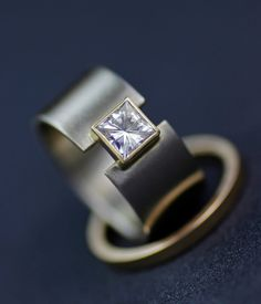 Hey, I found this really awesome Etsy listing at https://www.etsy.com/au/listing/228078451/wedding-band-modern-princess-moissanite