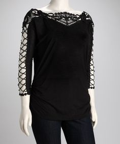 C.O.C. Black (also in Red & Blue) Ruched Plus-Size Top by C.O.C. & Passport Love: Plus-Size on #zulily today!