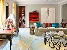 Architectural Digest January 2015: 10 Best Rooms with Decorative Rugs