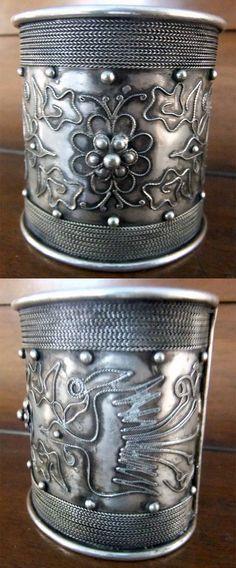 Yemen   Old handcrafted filigree silver cuff bracelet   200$