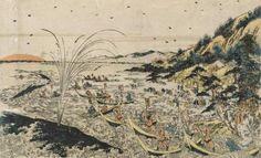 熊野浦鯨突之図 歌川豊春