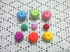 Como tejer botones en tejido crochet