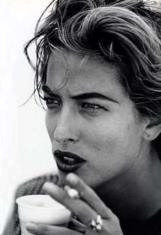 Tatiana Patitz by Peter Lindbergh -- Portrait - Fashion - Editorial - Black and White - Photography - Pose Peter Lindbergh, Black And White Portraits, Black White Photos, Black And White Photography, Tatjana Patitz, Christy Turlington, Cindy Crawford, Naomi Campbell, Portrait Photography