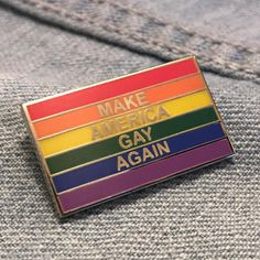 Make America Gay Again Anti-Trump LGBT Pride Enamel Pin FREE SHIPPING ($9.90) ❤ liked on Polyvore featuring jewelry, brooches, enamel jewelry, enamel brooches, pin brooch and pin jewelry
