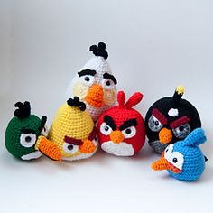 Ravelry: Angry Birds: The Complete Crochet Collection. My nephew would love me if I could make these!