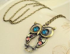 Free Vintage Crystal Owl Pedants Neckalce - Just Pay For Shipping