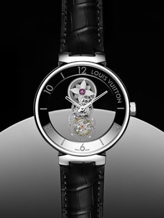 776f38e962c Louis Vuitton Conjures a Little Mystery With the  Tambour Moon Mystérieuse  Flying Tourbillon . Relogio ...