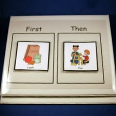 """Basic First/Then chart.  I normally have first """"working time"""" and the student chooses an incentive from his/her choice board for the then side."""
