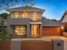 Photo of a pavers house exterior from real Australian home - House Facade photo… Design Exterior, Exterior House Colors, Facade Design, Australian Interior Design, Australian Homes, Architecture Classique, Modern Architecture, Villa, Future House