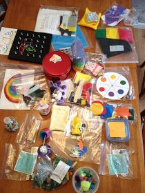 Toddler busy bags- play doh squeeze balloon I like the clothespin color wheel