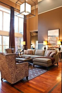 Eric Ross Brings Contemporary And Traditional Together In This Dramatic Franklin Tn Living Room Makeover Design By Interiors
