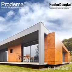 Ésta casa armoniza con el paisaje gracias al revestimiento #prodema #prodEX de #hunterdouglas