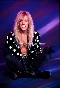Jani Lane, Warrant;  Studio Portrait Session , Los Angeles , 1990<br /> Photo Credit: Eddie Malluk