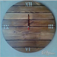 Wooden wall clock.