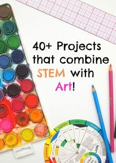 Projects that combine STEM with Art! Projects that combine STEM with Art- Great resource for art teachers and crafty folks who want to encourage STEM learning too! Teaching Science, Science Art, Teaching Art, Physical Science, Earth Science, Science Experiments, Montessori Science, Science Education, Teaching Ideas