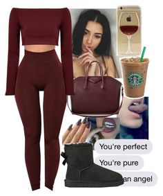 """:::"" by mafiaprinc3ss ❤ liked on Polyvore featuring UGG Australia, Givenchy and Glamorous"