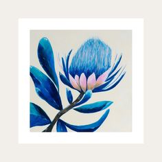 The Up-Close collection is looking at the environment and the beauty around us. Mother nature is the true artist creating all our gorgeous colourful living plants that bring joy into our world. This collection makes a striking statement for interior design. Local South African tradition, the protea represents hope and change.  All Lelly Lou art prints are printed on high-quality matte paper, signed & numbered  by Lelly herself and embossed with Lelly Lou signature stamp. Limited edition of…