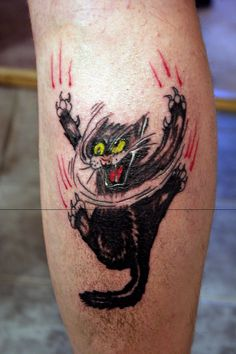 Mad Cat Tattoo By Miqemorbid On Deviantart  Free Download