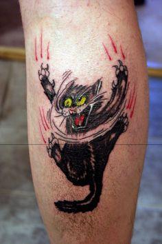 Mad Cat Tattoo By Miqemorbid On Deviantart  Free Download