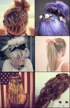 braids and bows - Click image to find more hair posts