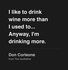 Godfather. A reflection on wine and decadence.