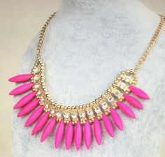 A personal favorite from my Etsy shop https://www.etsy.com/listing/291597627/free-shippinggold-crystal-pink-spike