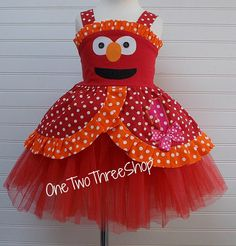 Custom Boutique Clothing Elmo Birthday Princess Top and by amacim, $42.99