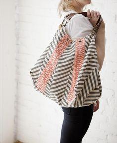 Rosanna Ikat Handbag in Coral/Grey