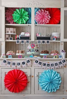 colorful hutch for serving~Cookie Exchange