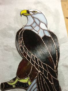 Tiffany style Stained Glass Eagle