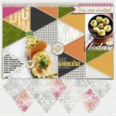 Knedličke food layout by Paddy Wolf, using the Bright Days bundle by Scrumptiously at Pixel Scrapper.
