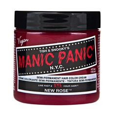 Sally Beauty offers Manic Panic Semi-Permanent Hair Colors for a bold and fearless hair color that last weeks. Manic Panic is a direct hair dye that requires no mixing, and is PPD, ammonia, and paraben-free. Vegan and cruelty-free formula. Cabello Manic Panic, Cheveux Manic Panic, Manic Panic Hair Color, Manic Panic Virgin Snow, White Toner, Bleaching Your Hair, Hair Color Cream, Hair Toner, Semi Permanent Hair Color