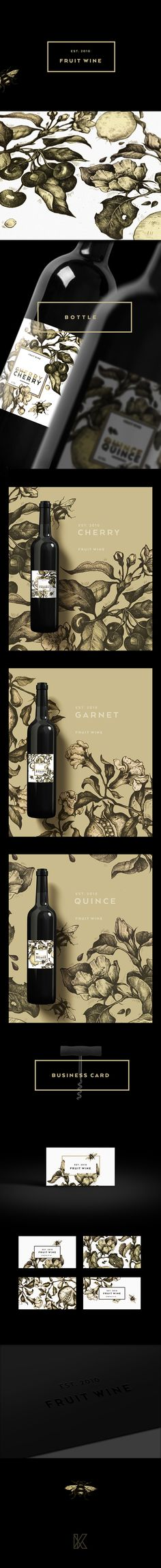Fruit wine on Behance (Bottle Sketch Design)