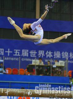 Bai Yawen--2014 World Championships podium training